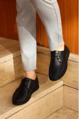 Hakiki Deri Siyah Erkek Loafer Ayakkabı 628MA09