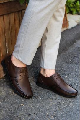 Hakiki Deri Kahve Erkek Loafer Ayakkabı 628MA09