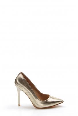 Altın Ayna Kadın Stiletto Ayakkabı 629ZA005-1888