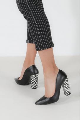 Siyah Kadın Yüksek Topuk Ayakkabı 629ZA005-5002