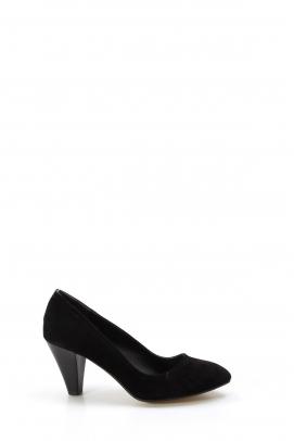 Siyah Süet Kadın Yüksek Topuk Ayakkabı 629ZARMN-501