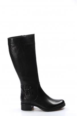 Hakiki Deri Siyah Kadın Klasik Çizme 757SZA5111