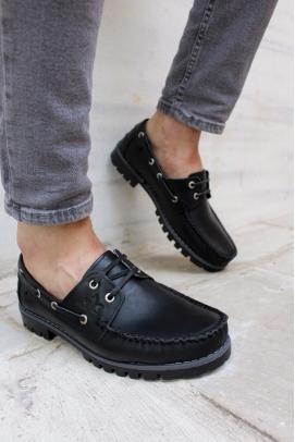 Hakiki Deri Siyah Erkek Casual Ayakkabı 858XA900