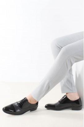 Hakiki Deri Siyah Rugan Erkek Klasik Ayakkabı 867MA075JUR