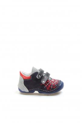 Hakiki Deri Lacivert Bebek Casual Ayakkabı 891BA506
