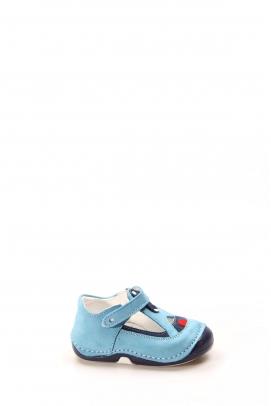 Hakiki Deri Turkuaz Lacivert Bebek Casual Ayakkabı 891BA503