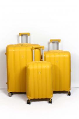 Sarı Unisex 3 lü Set Bavul 897BSETBAVUL