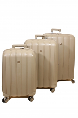 Şampanya Unisex 3 lü Set Bavul 897BSETBAVUL