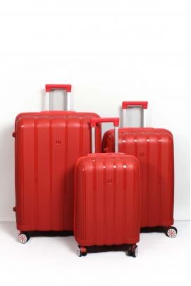 Kırmızı Unisex 3 lü Set Bavul 897BSETBAVUL