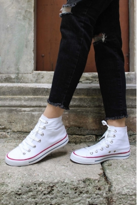 Beyaz Kadın Sneaker Ayakkabı 919ZA1000