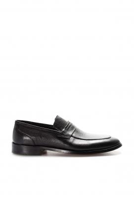 Hakiki Deri Kösele Siyah Erkek Klasik Ayakkabı 932MA301