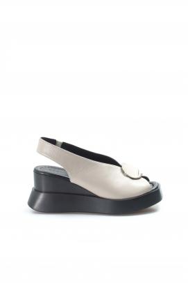 Hakiki Deri 1173 Vızon Kadın Dolgu Topuk Sandalet 965ZA2638