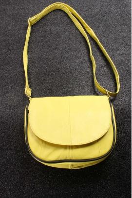 Hakiki Deri Limon Sarı Kadın El Çanta 969CA457
