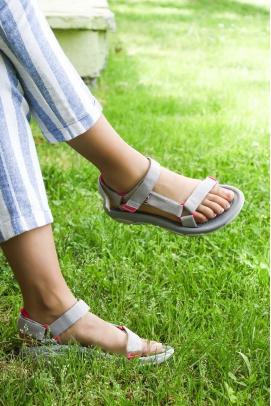 Ortopedik Gri Kadın Klasik Sandalet 981ZA9999