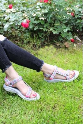 Ortopedik Grı Dıjıtal Kadın Klasik Sandalet 981ZA9999