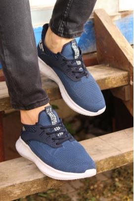 Lacivert Beyaz Erkek Sneaker Ayakkabı 985MA017V