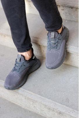 Füme Siyah Erkek Sneaker Ayakkabı 985MA017V
